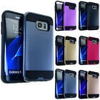 High Impact Hybrid Dual Shock Armor Hard TPU Brushed Cover Case for Cell Phones