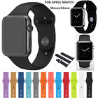 NEW Silicone Sport Bracelet Band Replacement Strap Clasp For Apple Watch iWatch