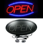 Ultra Bright LED Neon Light Animated Motion with ON OFF OPEN Business Sign Oval
