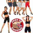 NEW WOMENS COTTON  ACTIVE WEAR DANCE CYCLING GYM LEGGINGS SHORTS