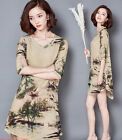 Women's summer new style Chinese style loose print dress dress N670