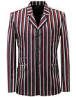 NEW RETRO INDIE MOD SIXTIES STRIPE Striped BOATING BLAZER JACKET MC270 T6B