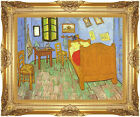 Framed Vincent van Gogh Bedroom at Arles Painting Reproduction Canvas Art Print