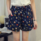 New Women Summer Casual Loose High waisted Printing hot  Shorts Plus UK 10-20