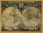 OLD WORLD MAP EXTRA LARGE PATTERN PLUS 3 OTHERS ON CD OR USB Memory Stick