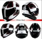 11 colo Mens Womens DOT Motorcycle Scooter Helmet Full Face Dual Visor Approved