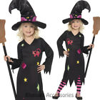 CK785 Girls Cute Cinder Witch Halloween Costume Outfit Black Pink Dress + Hat
