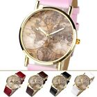 1pc Casual Antique 3-Hand  Global Map Earth Plate Quartz Wrist Watch Jewelry New