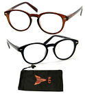 Round Black Brown Plastic Preppy Keyhole Retro Classi 80s Reading Glasses Reader