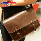 Men's Vintage Leather Shoulder Bag Business Briefcase Messenger Bag Handbag
