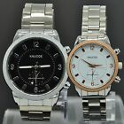 Couples Fashion Business Stainless Steel Quartz for Lovers Wrist Watch Watces