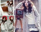 2015 Snowflake Womens Girls Soft Knit Sweater Pullover Jumper Blouse Tops Dress