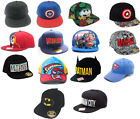 Marvel / DC Comics Baseball Snapback WideBill Cap New & Official Batman Superman