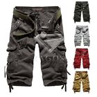 Men Casual Shorts Military Army Pants Cargo Camo Combat Work Trousers 29-38