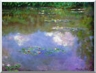 Claude Monet The Cloud Water Lilies Painting Reproduction Stretched Canvas Art
