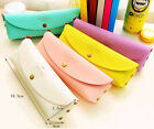 Pony Minimalist Leather Pouch Stationery Pencil Pen Case Bag Cosmetic Makeup Bag