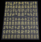 108PCS Flower Decal Stickers Nail Art Tip stamping Manicure DIY Decoration Charm