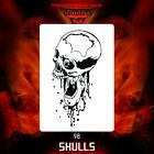 Airbrush stencil template DELTAARTS SKULL 98 - 4 SIZES AVAILABLE MINI MID XL XXL