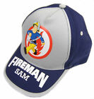 Boys Fireman Sam Cap Baseball Hat Summer Cap Red Or Grey With Navy 46 48 50 52CM