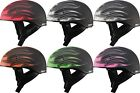 Gmax GM65 Skull Flame Naked Half Motorcycle Helmet Adult All Sizes All Colors