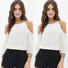 CHIC Fashion Women Lady Sexy Off Shoulder Casual Long Sleeve T-Shirt Blouse