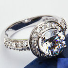 High Quality 2.00ct Russian CZ Engagement .925 Sterling Silver Ring Sizes 5-9
