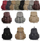 New canvas women's Backpack Laptop Rucksack gift bookbag hobo bag Travel Bags