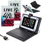"""PU Leather USB Keyboard Case Cover For Alldaymall A88X A10X 7"""" 10.1"""" 9"""" Tablets"""