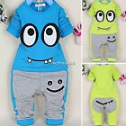 Baby Boys Long Sleeve Top Shirt +Pants Set Suit Coat Jacket Snowsuit Outfit 2PCS