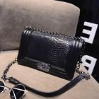 Girls Woman Bag luxury PU Leather Handbag Chain Shoulder Bag Plaid Free Shipping