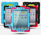 Waterproof Shockproof Heavy Duty Stand Hybrid Armor Silicone Case Cover for iPad