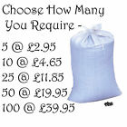 Large Polypropylene Rot Proof Sand Bags Sacks - With Ties - For Flood Prevention
