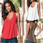 Women O-Neck Sleeveless T-shirt Tank Tops Chiffon Tee Top Blouse shirt Vest Cami