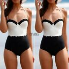 New Women One Piece Push Up Padded Bikini High Waist Monokini Swimwear Beachwear