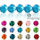50/72/100pcs Crystal Beads Disco Ball Spacer Fit Necklace Bracelet 6/8/10/12mm