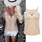 Women Lady Sleeveless Lace Vest Top Casual Loose Tank Tops T Shirt Blouse Cami
