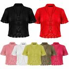 Ladies Womens Crochet Knitted Bolero Crop Shrug Summer Cardigan Girls Dress Top