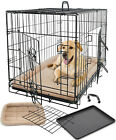Pet Dog Cat Crate Kennel Cage Bed Pad Cushion Warm Soft Cozy House Kit Playpen <br/> Folding Crate W/ Divider - 2015 Model #1 Best Seller