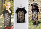 Baby Girl Kids Short Sleeve Tassel Top T-shirts Blouse Clothes Tops Dresses Punk