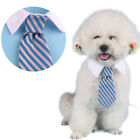 Cute ! Striped Bow Tie Collar Adjustable  Neck Tie For Pet Dog Cat