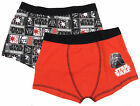 Boys Star Wars Two Pack Boxer Short Trunks Stretchy 6-7 To 13-14Y Storm Trooper