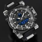 INFANTRY Mens Digital Quartz Wrist Watch Sport Rubber Night Vision Dial Chrono