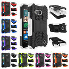 For Microsoft Nokia Lumia 550 Heavy Kickstand PC Rubber Rugged Armor Case Cover