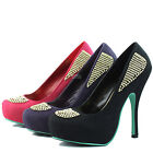 Almond Platform Toe Rhinestone Decor Stiletto Sexy Heel Women Bridal Dress Shoes