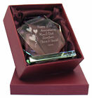 Engraved  25th Silver Wedding Anniversary Presentation Cut Glass Gift