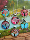 25% OFF - TREE OF LIFE ROUND PENDANT NECKLACE GLASS DOME CABOCHON CHARM FAMILY