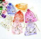 10/100 Pcs Sheer Organza Wedding Party Favor Gift Candy Bag Pouch 10*12cm