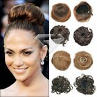 HOT SELL 6 Colors Women's Fashion Hair Bun Clip in Wig Synthetic Fiber Hairpiece