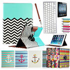 For Apple iPad 4/3/2 360 Rotating Magnetic Leather Case Cover Stand w/Keyboard