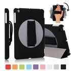 TKOOFN - Handheld 360 Rotating Holder Ipad 2/3/4 Case Back Cover With Hand Strap